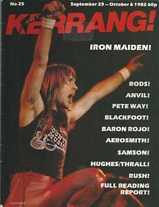 KERRANG! #25 SEP 1982 IRON MAIDEN The Rods ANVIL Blackfoot SAMSON Twisted Sister