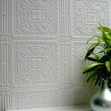 Luxury Paintable Wallpaper Textured Vinyl Embossed Turner Tile Anaglypta