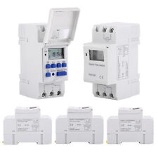 Thc15a DIN Rail Mounting Digital Programmable Timer Switch 12v 24v Ac110v AF Ac/dc12v