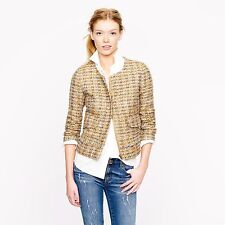 J Crew Collection Lady Jacket in Gilded Tweed Size 2 $398