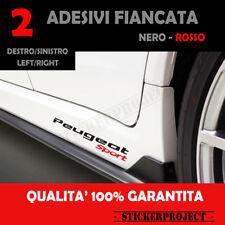 Adesivi PEUGEOT SPORT Minigonna Fiancata 108 208 308 2008 3008 Stickers X2