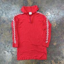 VTG LL Bean Helly Hansen 1/4 zip Lightweight pullover shirt SMALL Red White USA
