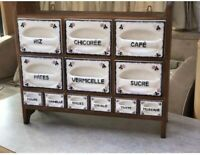 Antique French Kitchen Drawers Dry Goods Storage Ditmar Urbach 1920s 1930s Czech