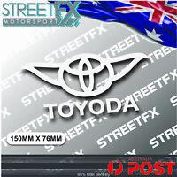 Toyoda Sticker Decal for Toyota Supra Soarer Corolla Prius Camry Yaris 86 Avalon