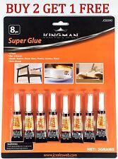 8 pack SUPER GLUE Cyanoacrylate Adhesive Wholesale 3g Tubes Crazy Glue