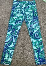 Nwot Lilly Pulitzer Maia Legging Poolside Blue Xl (12-14) Junior Size Only