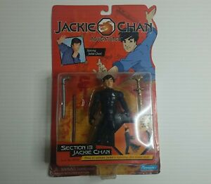 """Jackie Chan Adventures SECTION 13 JACKIE CHAN 5"""" Action Figure Playmates 2001"""