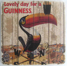 LOVELY DAY FOR A GUINNESS Beer COASTER Mat with a TOCO TOUCAN, Dublin, IRELAND