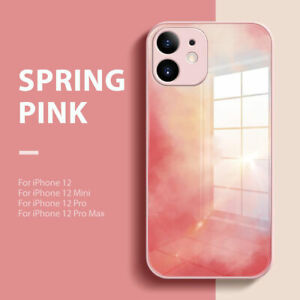 For iPhone 12 11 Pro Max Mini XS XR Marble Hard Hybrid Tempered Glass Case Cover