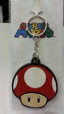 Nintendo Super Mario Bros. Red Mushroom Rubber Key Chain New L@@K 100% Original