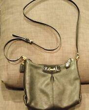 Coach Ashley Black Leather Gold Hardware Crossbody Swingpack Shoulder Bag