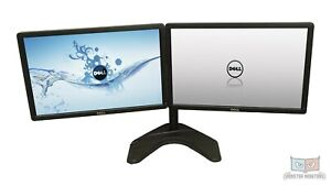 Matching Dual 22inch Monitor w/Heavy Duty Stand &Dock Dell P2213 Full HD