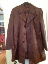 Vintage Grais Cabretta Leather Angel Skin Plaid Lined Leather Jacket- Mens 40reg