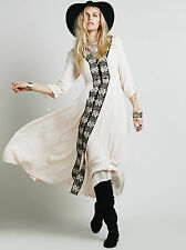 NEW FREE PEOPLE Journey To The Horizon Shell Dress - US 0 AU UK 4 6 - Boho Gypsy