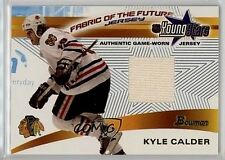 KYLE CALDER 2002 BOWMAN FABRIC OF THE FUTURE YOUNG GUNS GAME USED JERSEY