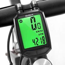 Bike Computer Bicycle Odometer Speedometer Trip AVS Meter Wireless Waterproof