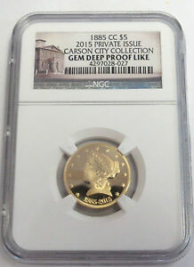 1885-CC (2015) $5 Gold Carson City Collection Commemorative GEM Deep Proof Like