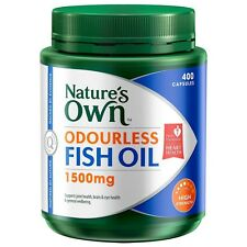 Nature's Own Odourless Fishoil 1500mg - 400 Capsules Rich in DHA