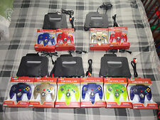 N64 system Nintendo 64 Console with 4 new Controllers (TIGHT STICKS) + av power