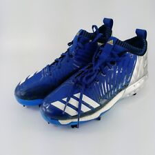 adidas Boost Icon 3 Metal Baseball Cleats - Royal Blue/White - BY3683 - Size: 10