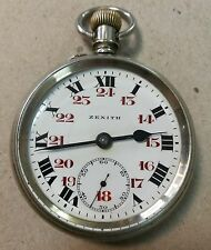 Vintage Zenith Railroad Pocket Watch
