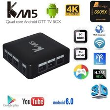 Smart TV Box KM5 Android 7.1 Quad Core Kodi Media Streamer KEYBOARD MOUSE WIFI