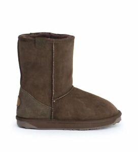Emu Originals Brown Stinger Lo Water Resistant Sheepskin Boots Size 4 37 Ex disp