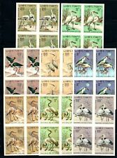 N.431-Vietnam- Block 4- IMPERF- Water birds set 8 1983