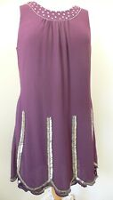 10 Purple Bead Sequin Dress Very 1920s Vintage Style Flapper Gatsby Downton