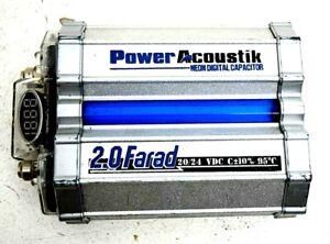 Power Acoustik Neon Digital Capacitor 2.0 Farad 20/24