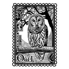 Crafty Individuals AIRMAIL OWL Rubber Stamp CI-225