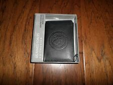 NEW U.S MARINE CORPS LEATHER TRIFOLD WALLET GENUINE BLACK COWHIDE EMBOSSED EGA