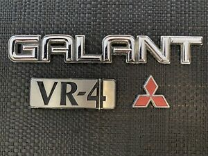 Mitsubishi Galant VR4 Trunk Boot Badges E38A E39A