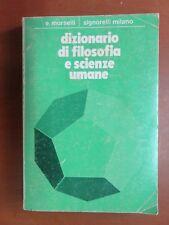 DIZIONARIO DI FILOSOFIA E SCIENZE UMANE Emilio Morselli Signorelli 1981 libro