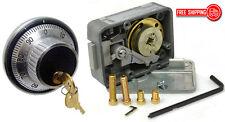 LAGARD COMBINATION LOCK 3330 WITH 1779 KEY LOCKING DIAL & RING SET- SATIN CHROME