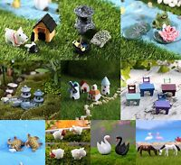 Miniature Fairy Garden DIY Craft Mini Figurine Plant Pot House Light_Ornament