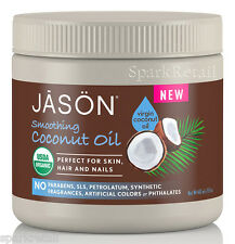 Jason Organic Smoothing Virgin COCONUT Oil For Body, Hair, Nails & Hands 443ml