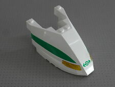 Lego Train - Front - 6 x 10 x 3 Studs - Triple Curved with Green Stripe (45706)