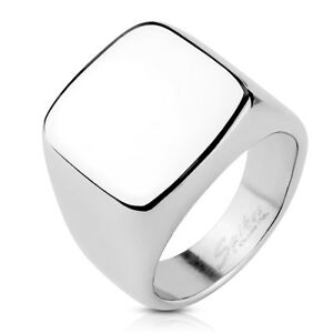 Tapsi´s Coolbodyart® Fingerring aus Edelstahl , Siegelring in silber Ringgröße :
