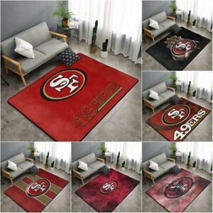 San Francisco 49ers Rugs Living Room Anti-Skid Area Rug Bedroom Floor Mat Carpet