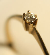 100% Genuine 9ct Solid Gold Diamond Solitaire Ring