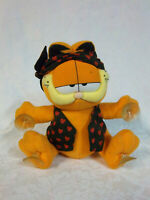 """PAWS Garfield Suction Cup Pirate Love Heart 8"""" Plush Soft Toy Stuffed Animal"""