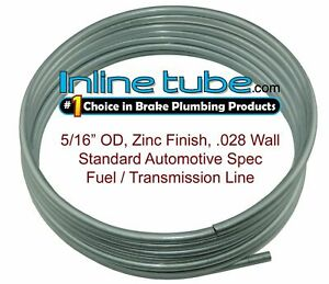 "OE Zinc Automotive Steel Brake Fuel Transmission Line Tubing 5/16"" OD Coil Roll"