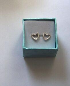 Ohrringe Ohrstecker 925 Sterling Silber Herzen mm Neu in Geschenkverpackung