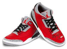 Michael Jordan Dédicacé Nike Jordan 3 Rétro Se Feu Rouge Chaussures Uda Le 23/23
