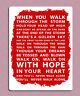 Liverpool football song you'll never walk alone metal sign wall door plaque