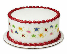 Stars Bright Colors image cake strips decoration sides frosting #19296