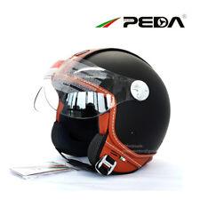 Italian Design Open Face 3/4 Motorcycle Helmet DOT Cafe Racer Retro Vintage Jet