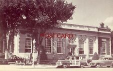 POST OFFICE - SIDNEY, NEBR. mid-1940's Woody wagon parked in front