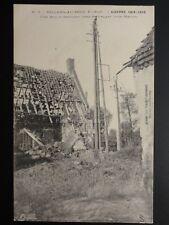 WW1 France VILLERS AU BOIS, GUERRE 1914-1916 Une grosse marmite vient de frapper